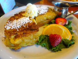 The Stuffed French Toast at Ed's Place defines over-the-top breakfast decadence.