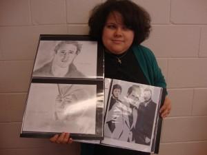 Desirey Wester, 24, has not let her lack of eyesight get in the way of her love of art.