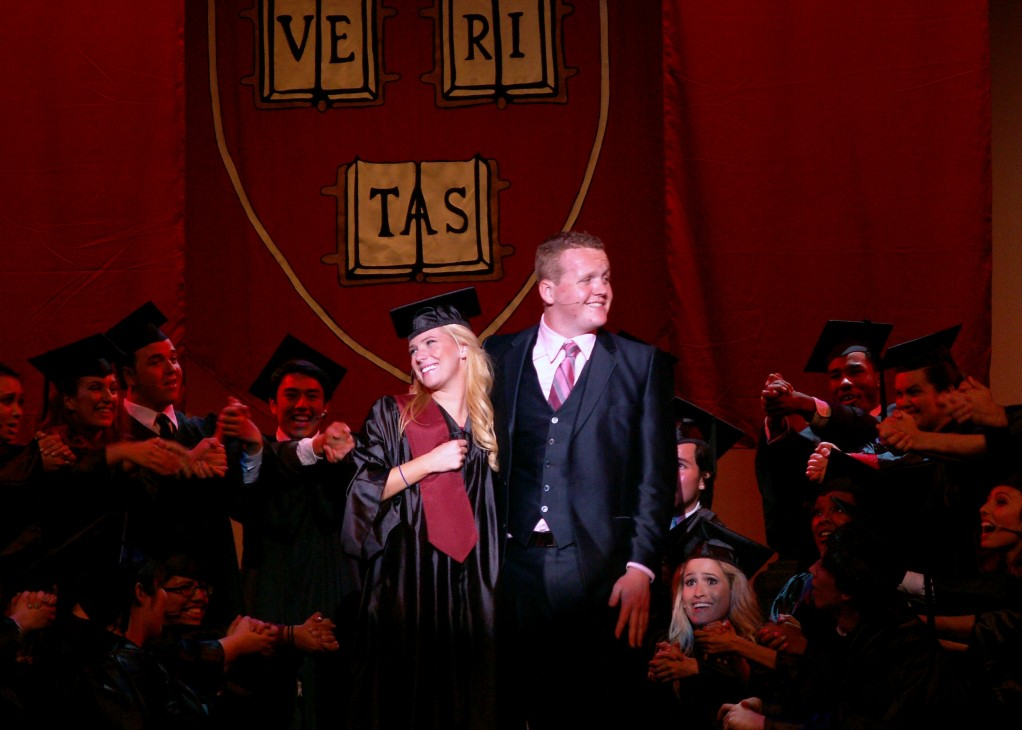 The cast of 'Legally Blonde' concluded the show on a happy note at the Haugh Performing Arts Center April 12.