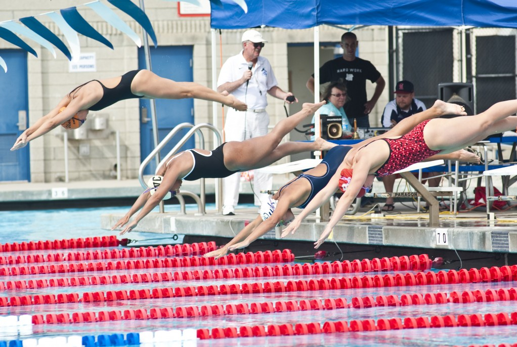 Citrus College held its own against LA Valley, Bakersfield, and Ventura in the first home swim meet in three years March 29.