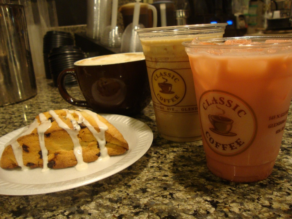 Classic Coffee's chocolate chip scone blends perfectly with any hot or iced beverage. (Jessica Soto / Citrus College Clarion)