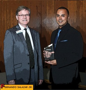 Fernando Salazar Jr. is the latest in a long line of Citrus College Veteran Center success stories, and the third consecutive veteran to win the campus' highest award. (Citrus College External Relations)