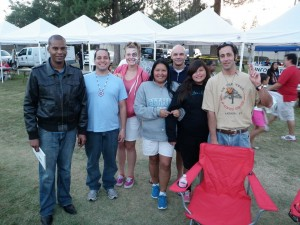 From left to right: Steven Bluitt Flowers, Manuel Ramirez, Rachel Waters, Heather Nelson, Danial Bartlet, Jordan Nelson and Ron Aswad were among the members of N.A.S.A who attended the powwow at San Manuel Band of Mission Indians on Oct 12. (Jordon Lowndes/ Citrus College Clarion)