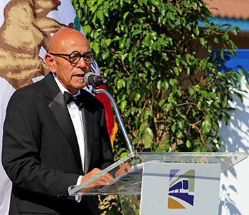 Azusa mayor Joseph Rocha addressed the audience during the Foothill Gold Line Extension ceremony Oct. 18. (La'Mesha Simpson/Clarion)