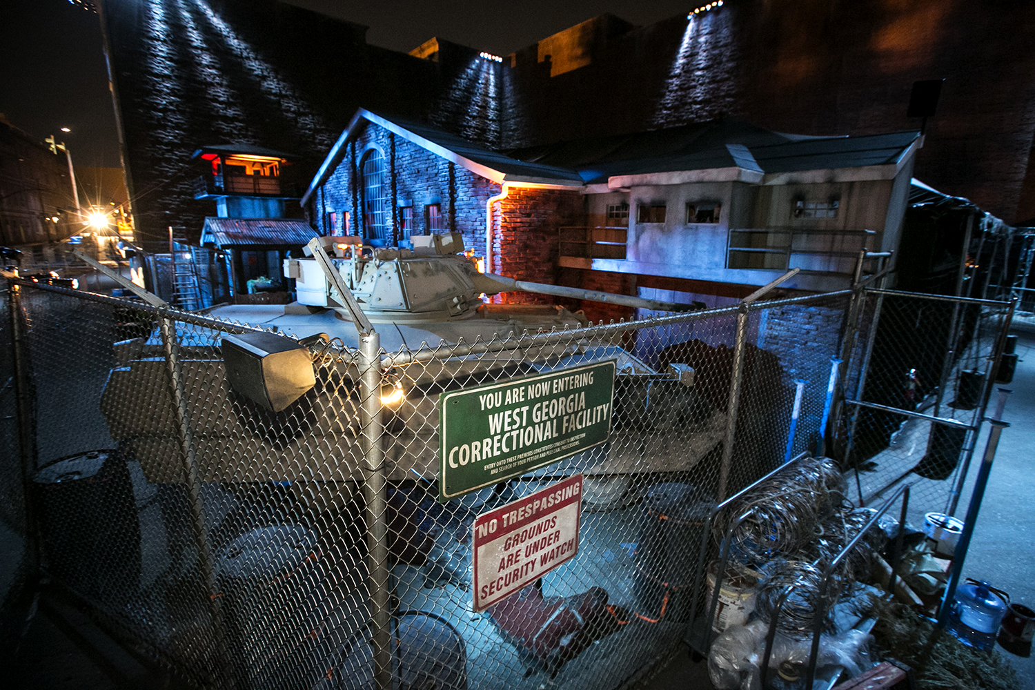 The blood-drenched and zombie-filled path of the horrifying maze inspired by the Walking Dead series awaits vistors seeking an adventure like no other.  Halloween Horror Nights guests can explore many more mazes throughout their visit at Universal Studios. (Photo courtesy of Universal Studios)