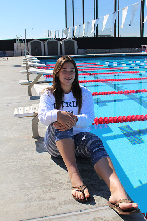 Women's water polo player Natasha Martinez. (Mickey Romero/Clarion)