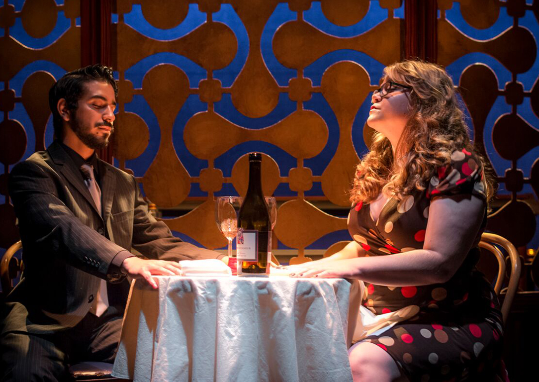 "Actore Robert Martinez (left) and Chelsea Barron in scene titled ""The Mood"" during the Little Theatre production of ""This is not what I ordered."" (File Photo/Little Theatre)"