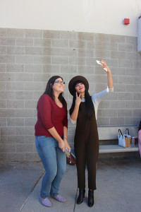 "Actress Jackie Cruz from ""Orange is the New Black"" took seflies with stuents after speaking on Nov. 19 in the Haugh Performing Arts Center at Citrus College."