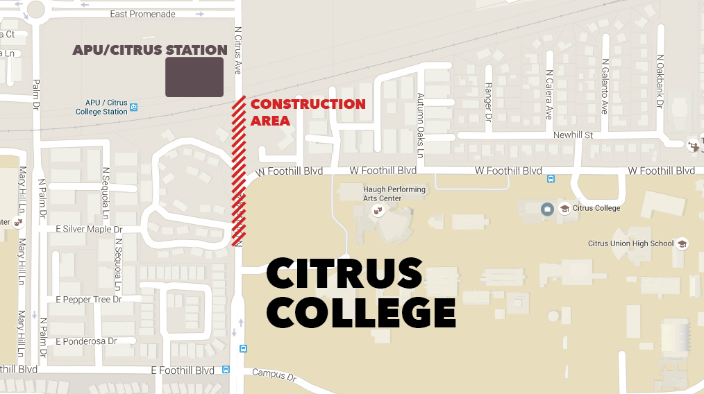 MAP - Citrus College Clarion Citrus College Map on