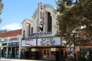 The Krikorian Monrovia Cinema in Old Town Monrovia. The theater provides an elegant, classic feel inside for moviegoers.