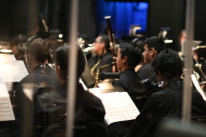 The Citrus Sierra Wind Symphony performs music from songwriter Danny Elfman alongside the Citrus Concert Choir Oct. 14 at the Haugh Performing Arts Center. Photo by Shawna Louise.
