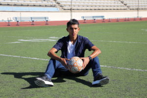 Citrus sophomore midfielder Emilio Del Villar poses for a photo on Nov. 14 at Citrus Stadium. The captain scored four goals during the season and led the Owls to their best season since 2008.